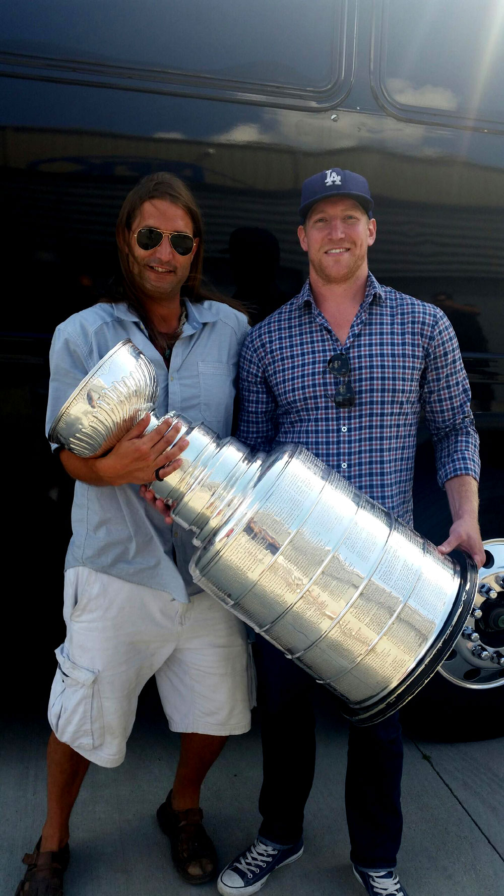 Matt Greene and the Stanley Cup with Space Cruise's Matt Gust